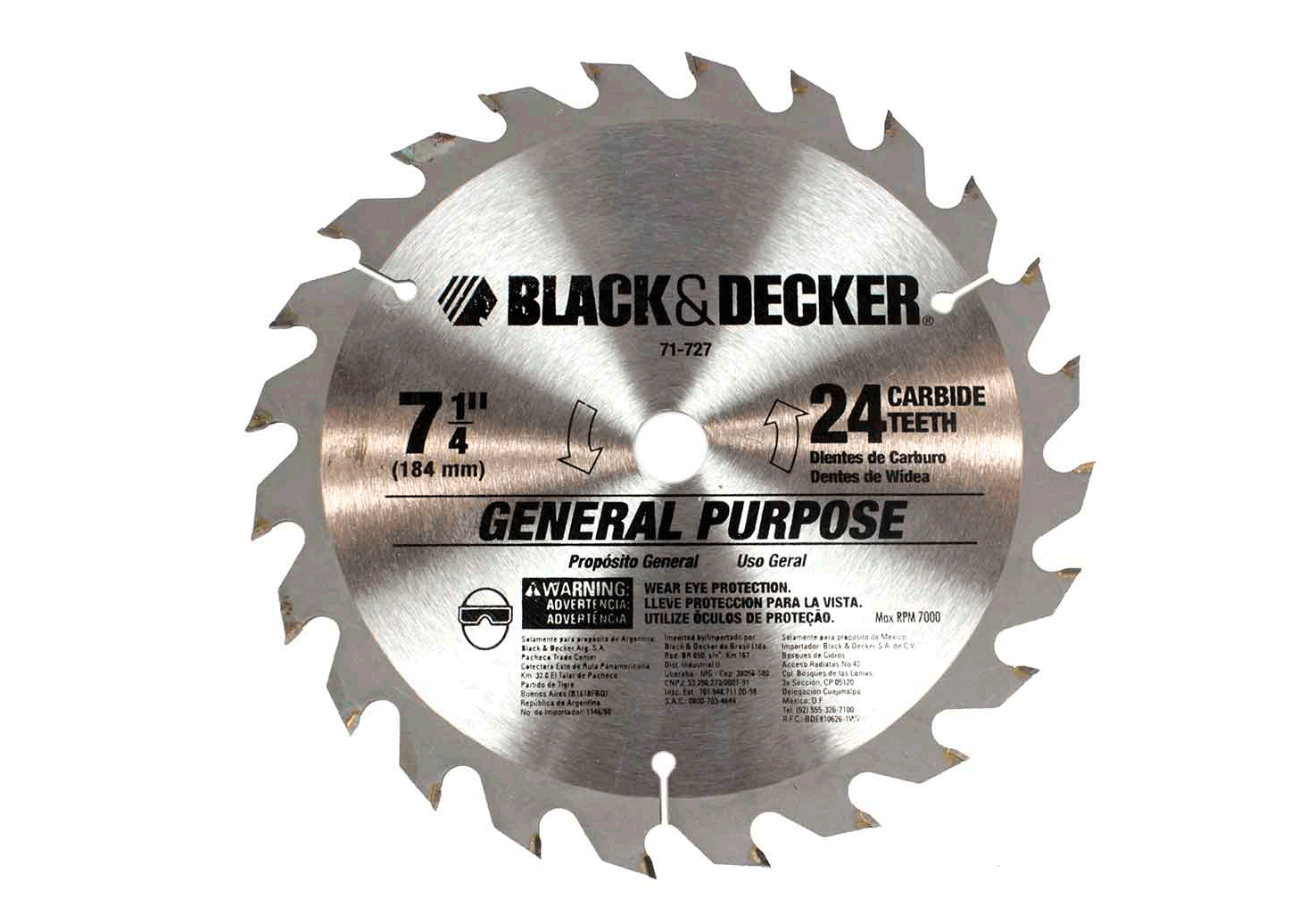 Disco De Serra Circular Black&Decker